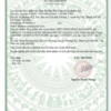 Giấy phép của Bộ Y Tế chứng nhận Hồng Đan Khớp an toàn với sức khỏe